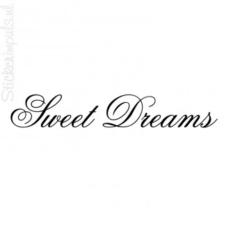 muursticker sweet dreams mooie muurtekst voor in uw