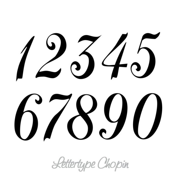 Cijfers / huisnummers : Muursticker : Wandsticker : Interieursticker