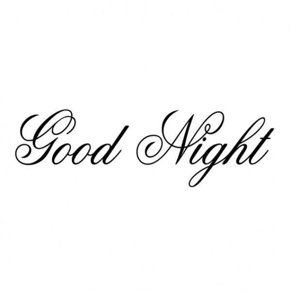 Muursticker Good Night Mooie Muurtekst Voor In Uw