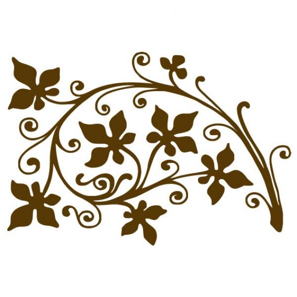 Ornament u0026#39;Floweru0026#39; : Muursticker : Wandsticker : Interieursticker