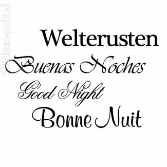 Welterusten | 4 talen