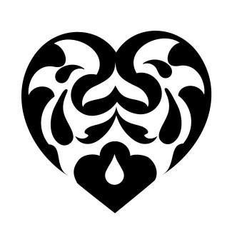 Hart sierlijk symmetrisch