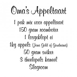 Oma's appeltaart