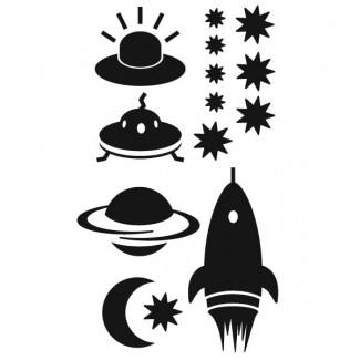 Raket - ruimte - sterren