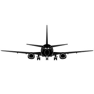 Vliegtuig groot voorzijde