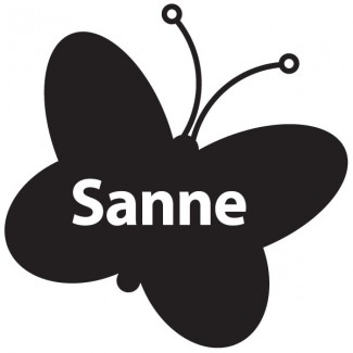 Vlinder diapositief + naam