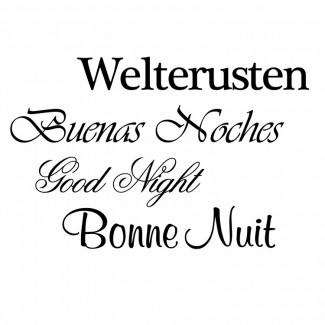 Welterusten   4 talen