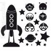 Raket - aliens - sterren