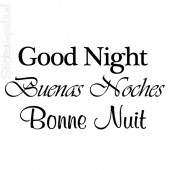 Good Night | 3 talen