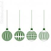 Kerstballen 4 stuks