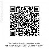QR code muursticker