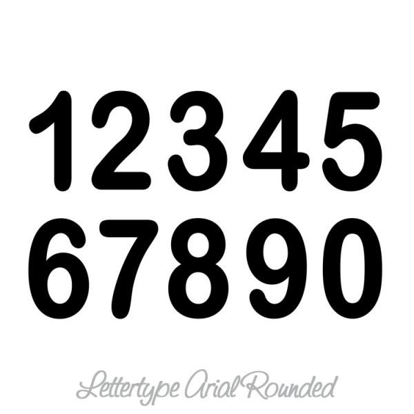 Cijfers Huisnummers Muursticker Wandsticker
