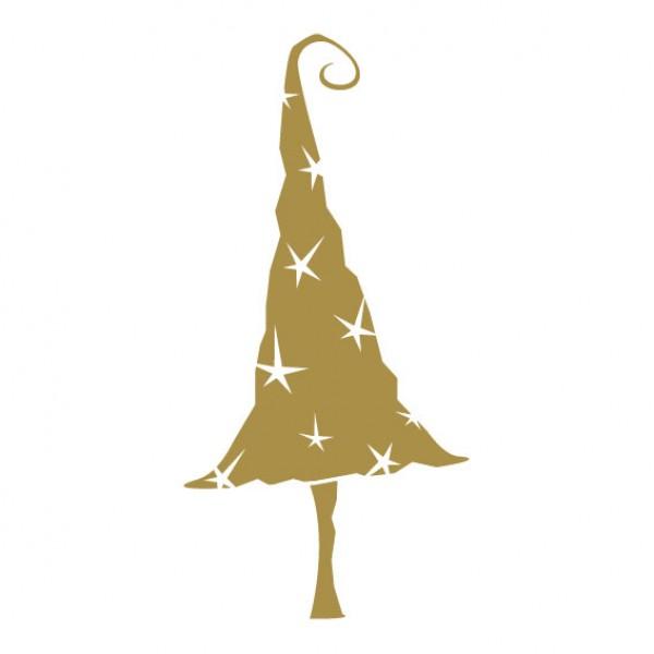 Kerstboom Met Sterren Muursticker Wandsticker