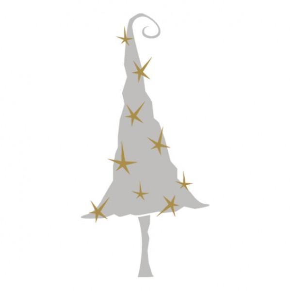 Schoudertas Met Sterren : Kerstboom met sterren muursticker wandsticker