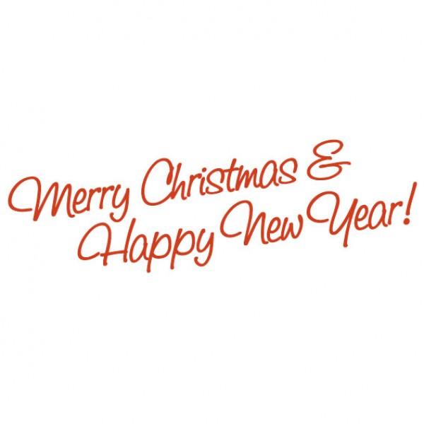 Merry Christmas En Happy New Year Muursticker