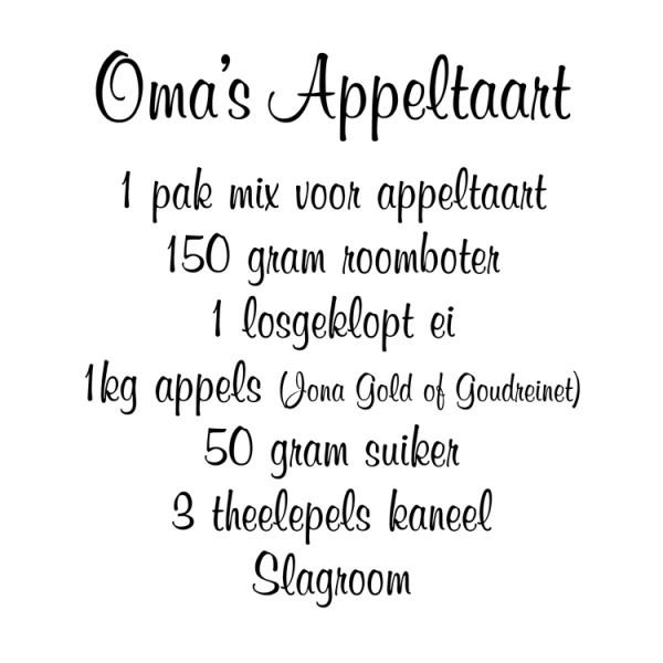 Omau0026#39;s appeltaart Mooie muurtekst voor in uw keuken muursticker ...