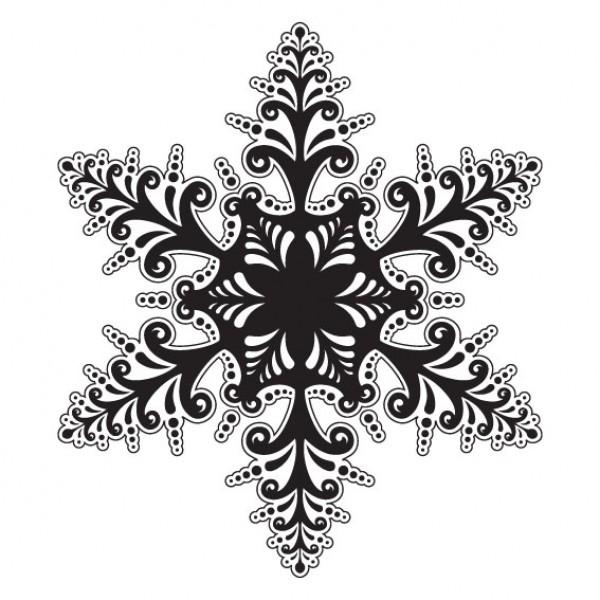 Ijsster Snow Flower Muursticker Wandsticker