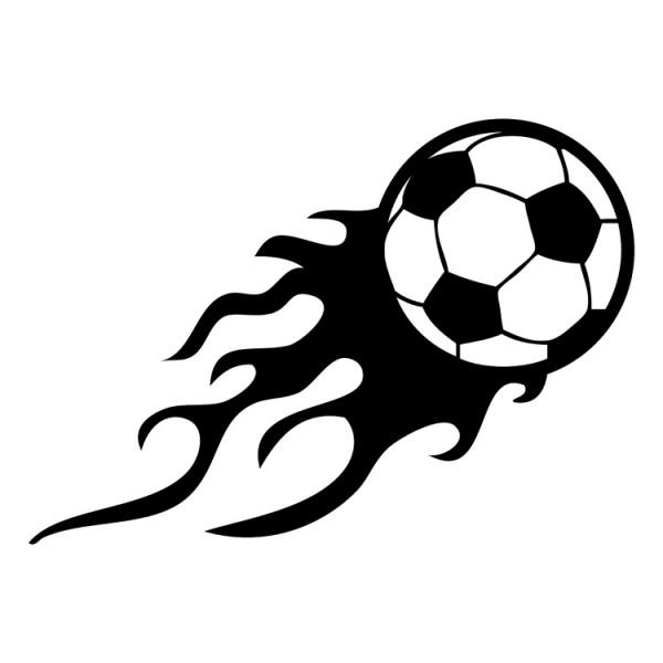 Voetbal Met Vuur Muursticker Wandsticker